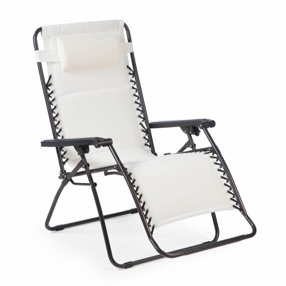 Coral Coast Padded Extra Wide Zero Gravity Chair White Ebay